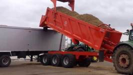 Larrington Chaser Trailer Unloading Maize in to Commercial Lorry
